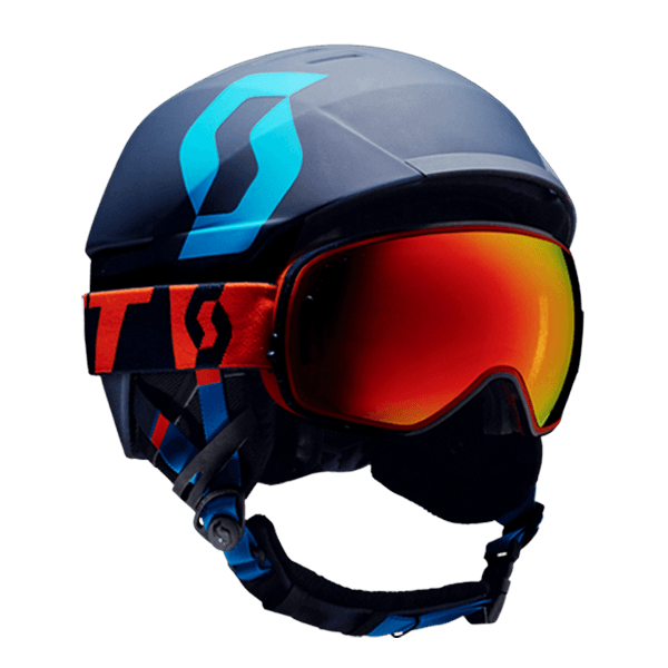 Freeride helmet and goggles